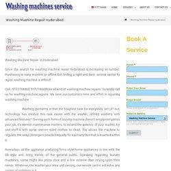 Washing Machine Repair Hyderabad - Front load, Top load,Semi automatic ,Fully automatic washing machine repair