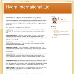 Hydra International Ltd.: How to Clean a Boat? Here are Some Easy Ways!