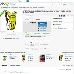 Hydration Backpack Caribee HI VIS Flow 2L HI VIS Yellow Bicycle Camping Hiking