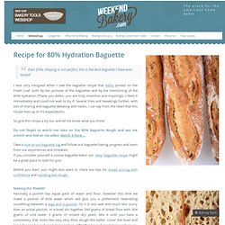 Recipe for 80% Hydration Baguette