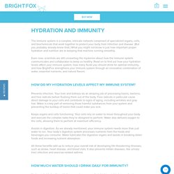 Hydration and Immunity – BrightFox