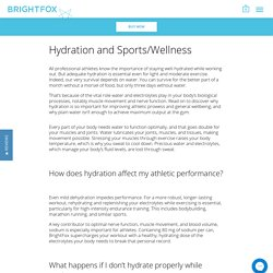 Hydration and Sports Wellness – BrightFox