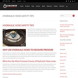 Hydraulic Hose Safety Tips - Prevent Hydraulic Hose Leaks