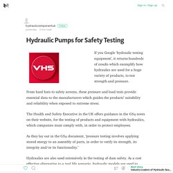 Hydraulic Pumps for Safety Testing – Medium