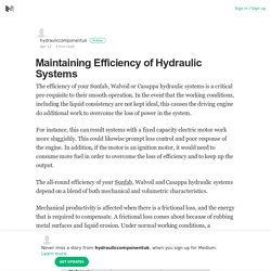 Maintaining Efficiency of Hydraulic Systems – hydrauliccomponentuk – Medium