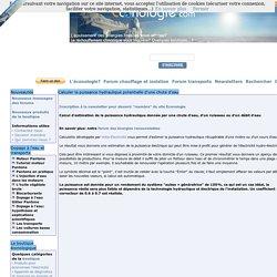 Calculer la puissance hydraulique potentielle d'une chute d'eau - Electricité et énergie électrique - Econologie.com: réconcilier l'écologie et l'économie