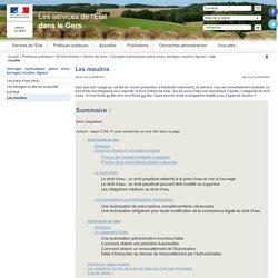 Les moulins / Ouvrages hydrauliques (plans d'eau, barrages, moulins, digues) / Gestion de l'eau / Environnement / Politiques publiques / Accueil - Les services de l'État dans le Gers