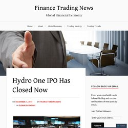 Hydro One IPO Has Closed Now