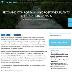 Pros And Cons Of Mini-Hydro Power Plants In Irrigation Canals