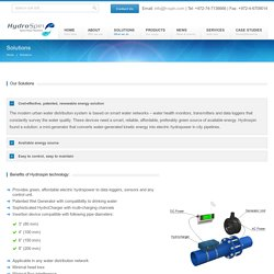 Hydro Spin Our Solutions - how hydropower works