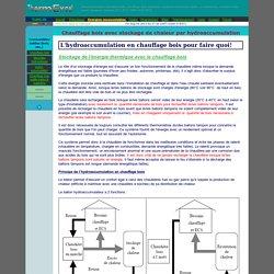 dimensionnement, calcul chauffage bois, hydro_accumulation, hydroaccumulation, biomasse, stockage d'energie, poelle, cuisiniere