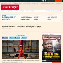 Hydrocarbures : le Gabon réintègre l'Opep