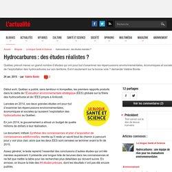 Hydrocarbures : des études réalistes ?