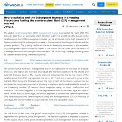 Hydrocephalus and the Subsequent Increase in Shunting Procedures fueling the cerebrospinal fluid (CSF) management market: Medical Press Releases