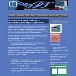 hydrodynamique navale et résistance hydrodynamiques de vague à l'avancement