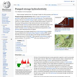 Pumped-storage hydroelectricity - Wikipedia, the free encycloped