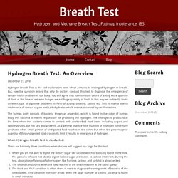 Hydrogen Breath Test: An Overview