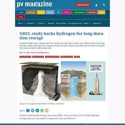 NREL study backs hydrogen for long-duration storage