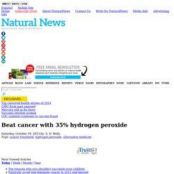 Beat cancer with 35% hydrogen peroxide - NaturalNews.com