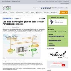 Des piles à hydrogène géantes pour stocker l'énergie renouvelable