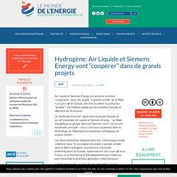 """Hydrogène: Air Liquide et Siemens Energy vont """"coopérer"""" dans de grands projets"""