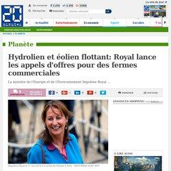 Hydrolien et éolien flottant: Royal lance les appels d'offres pour des fermes commerciales