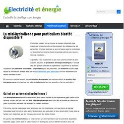 La mini-hydrolienne pour particuliers bientôt disponible ? - Electricité et energie
