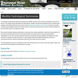 Monthly Hydrological Summaries