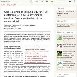 Compte rendu de la réunion du lundi 29 septembre 2014 sur le devenir des moulins