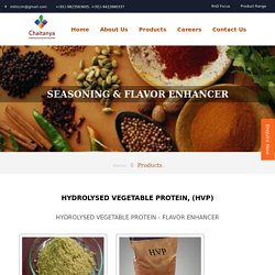 Hydrolyzed Vegetable Protein Manufacturers in India