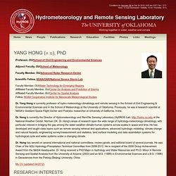 Hydrometeorology and Remote Sensing Laboratory » Yang Hong