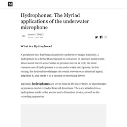 Hydrophones: The Myriad applications of the underwater microphone