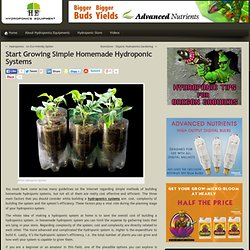 Hydroponic Gardening Supplies & Systems