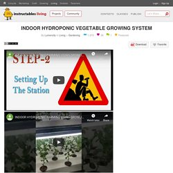 INDOOR HYDROPONIC VEGETABLE GROWING SYSTEM : 9 Steps (with Pictures) - Instructables