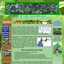 Hydroponic N.F.T. Systems