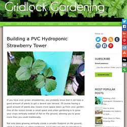 Building a PVC Hydroponic Strawberry Tower - Gridlock Gardening