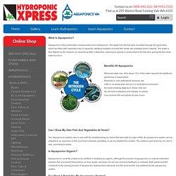Hydroponic Xpress: LEARN AQUAPONICS