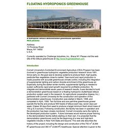 Floating_Hydroponics Greenhouse