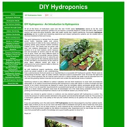 DIY Hydroponics - Hydroponics Made Easy So You Can Do It Yourself