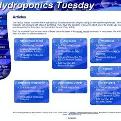 Hydroponics Tuesday