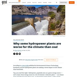 Why some hydropower plants are worse for the climate than coal