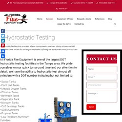 Hydrostatic Testing in Florida- All Florida Fire Equipment