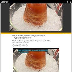 The hypnotic recrystallisation of 4-hydroxybenzaldehyde