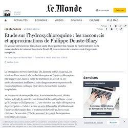 Coronavirus ethydroxychloroquine: les raccourcis et approximations de Philippe Douste-Blazy