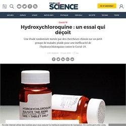 Hydroxychloroquine : un essai qui déçoit