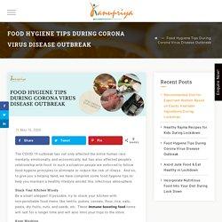 Food Hygiene Tips During Corona Virus Disease Outbreak