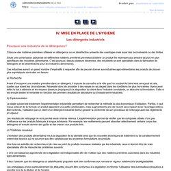 FAO - 1993 - L'hygiéne dans l'industrie alimentaire - Les produits et l'application de l'hygiéne