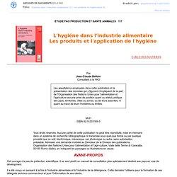 L'hygiène dans l'industrie alimentaire - FAO
