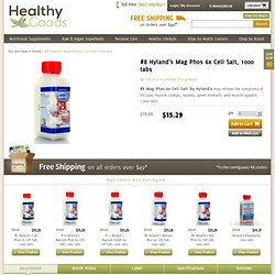 Mag Phos 6x Cell Salt 1000 tablets - Hylands - HealthE Goods Natural Health Store