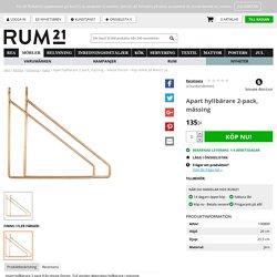 Apart hyllbärare 2-pack, mässing – House Doctor – Köp online på Rum21.se